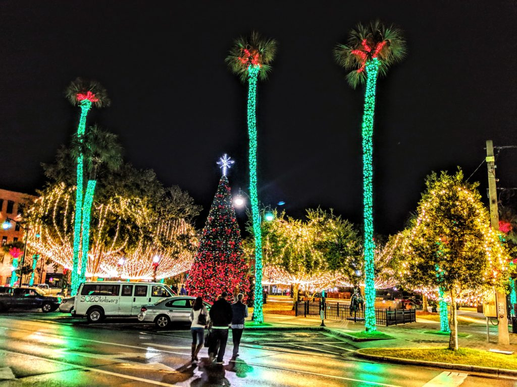 Downtown Ocala decorated for the holiday season