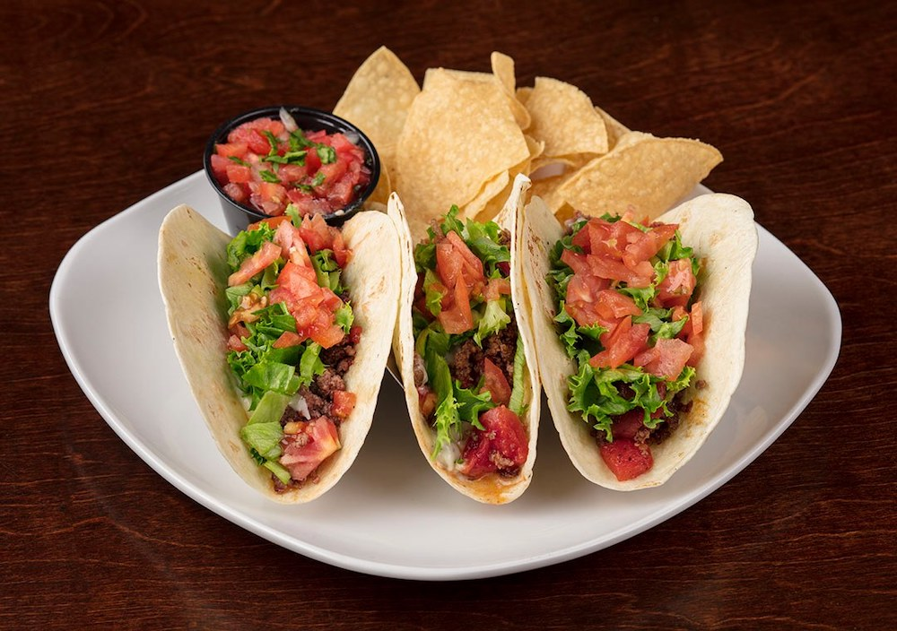 Ground beef tacos at Locos Grill and Pub