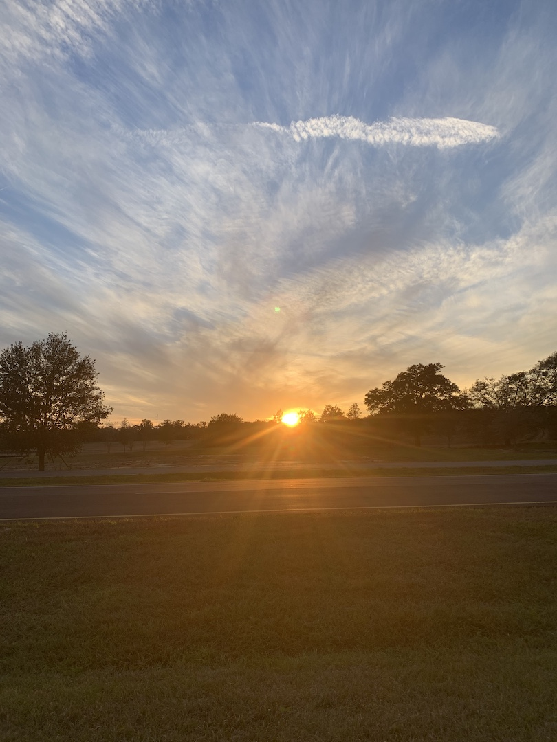 Beautiful Sunset Over Entrance To World Equestrian Center In Ocala