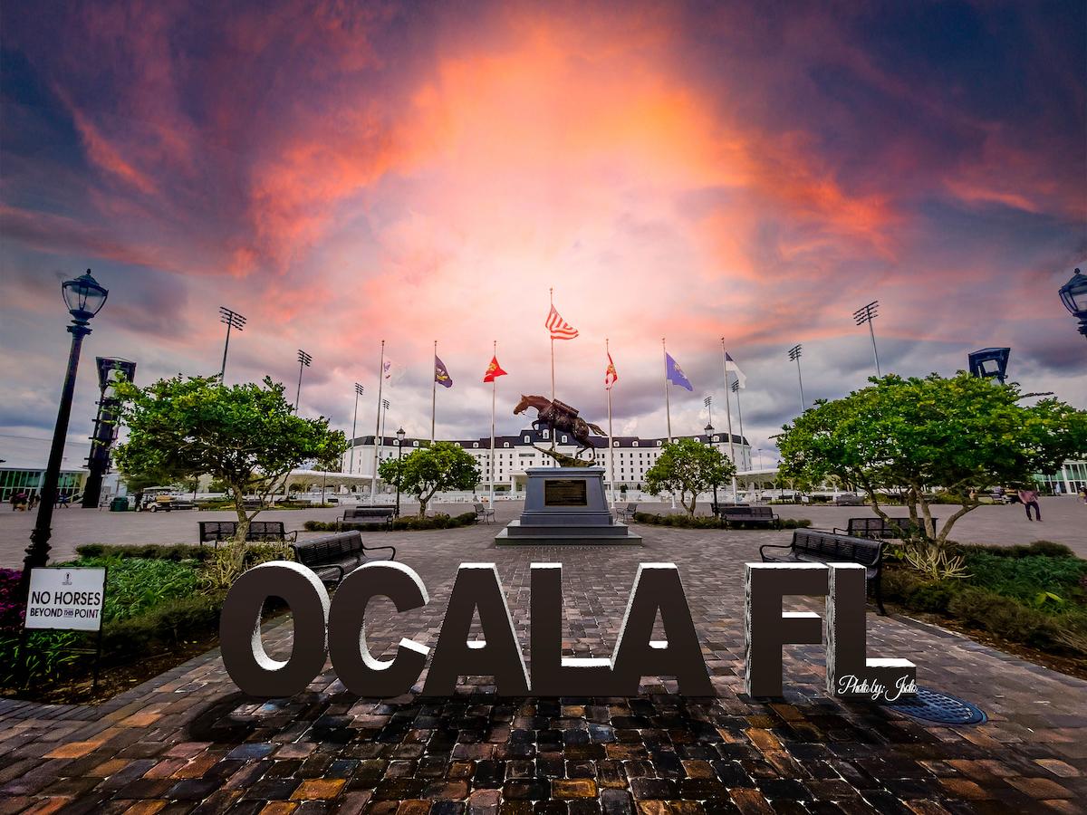 Sunset Over World Equestrian Center In Ocala