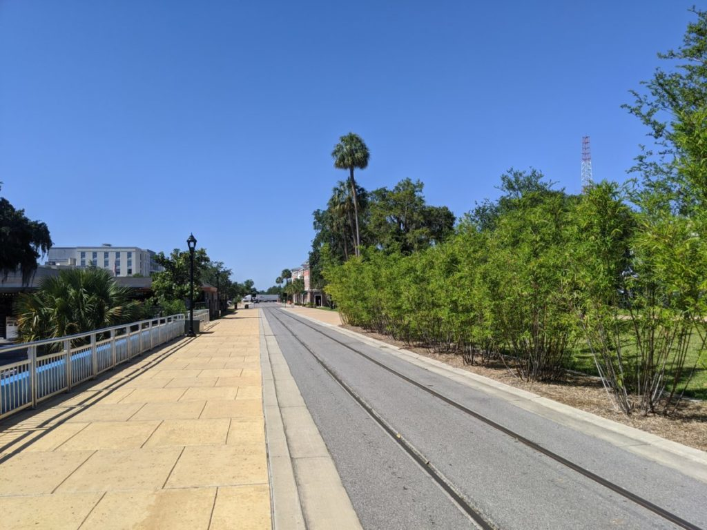 The Osceola Trak is one of the many pathways and sidewalks that runs through downtown Ocala