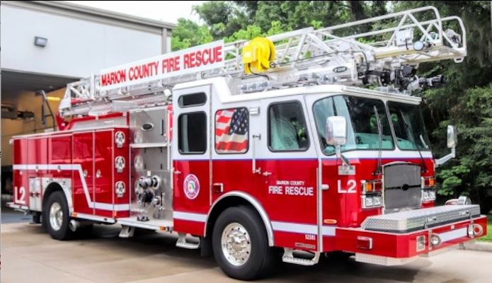 New ladder truck in service for Marion County Fire Rescue