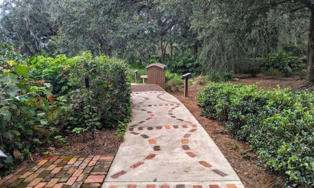 Sholom Park is one of the many parks in Ocala that offers the public beautiful walkways, pathways, and sidewalks